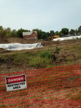 removing ground contaminants at old foundry site